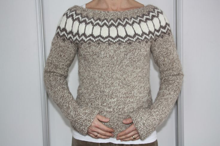 Icelandic sweater..Love the neck line