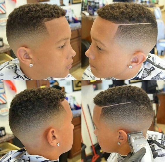 baby boy high top fade | 40 Black Boys Haircuts