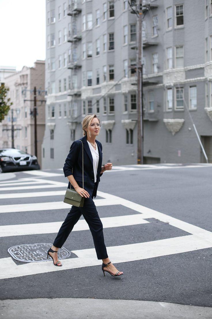 Navy Suit | MEMORANDUM | NYC Fashion & Lifestyle Blog for the Working Girl
