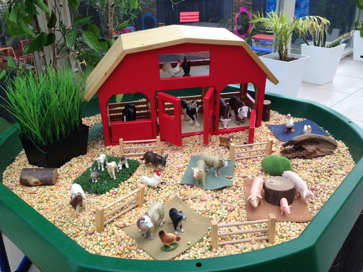 Farm Small World Play @ New Horizons Preschool-I like  the way the farm worked…