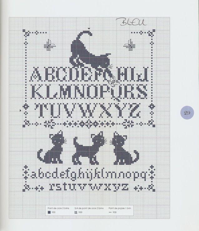 Gallery.ru / Фото #1 - Les chats au point de croix - NINULYKA