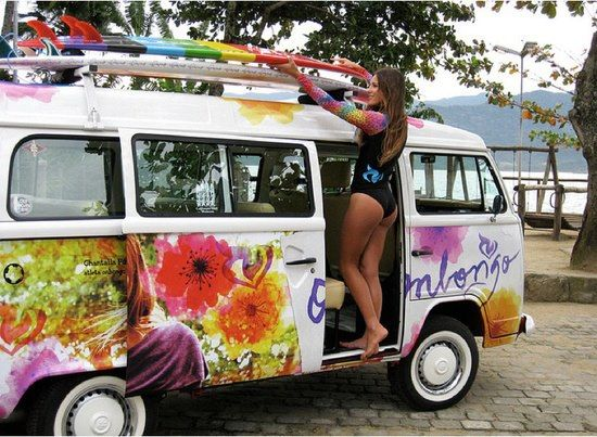 Flower Surf Bus | A bikini kinda life ️ | Pinterest | Posts, Volkswagen and Surf