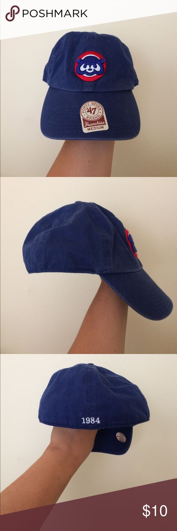 Cubs Hat Old School Cubs Logo - Worn Once - Stickers still in place Forty Seven Brand Accessories Hats