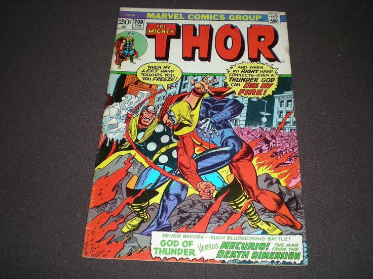 Thor 208, (1973), 1st App Fourth-Dimensional Man, Marvel Comics B02 by HeroesRealm on Etsy