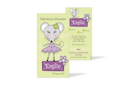 Geburtskarte Emilie
