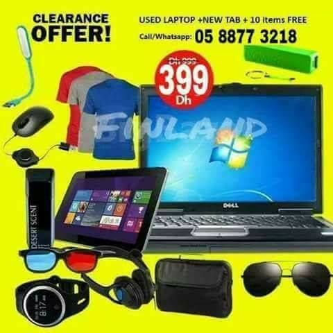 STOCK CLEARANCE OFFER! ONLY AED 399  USA IMPORTED USED DELL LAPTOP with 2GB RAM 80GB HDD DVD WIFI WEBCAM BRAND NEW TAB 12months warranty Sunglass 1pic T-shirts USB LED light HEADSET | MOUSE LAPTOP BAG DESERT SCENT PERFUME POWERBANK  to make order please call or whatsapp | 055 298 42 46  delivery anywhere in the uae #electronics #technology #tech #electronic