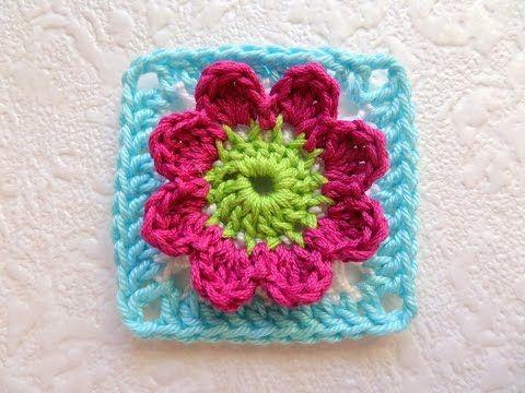 Flower Granny Square - EASY Crochet Tutorial - YouTube