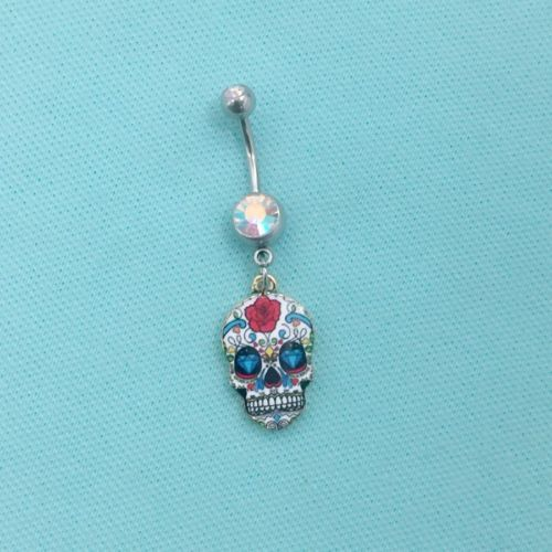 BEAUTIFUL-COLORFULL-SUGAR-SKUL-Charm-Surgical-Stainless-Steel-Belly-Ring