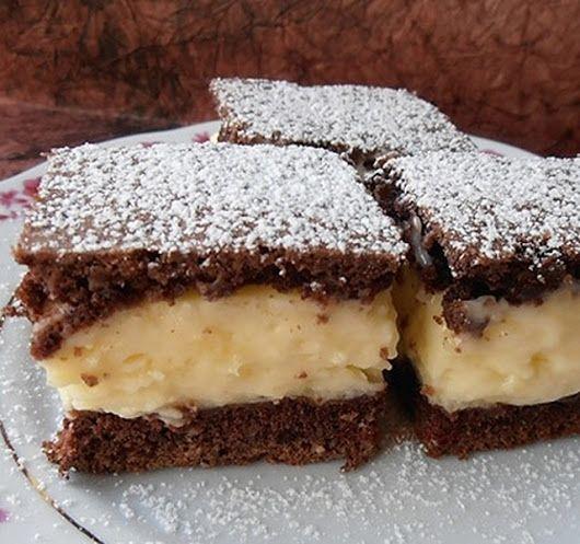 Tejfölös csodasüti, az egyik legolcsóbb krémes sütemény