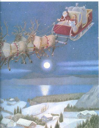 As renas do Pai Natal Ninguém melhor para o fazer!- disse o Pai Natal.    Agora o Pai Natal sabe que, na noite de Natal, pode entregar todos os presentes e estar de volta antes do dia.  E assim começou uma viagem que acontecerá para sempre, todos os Natais.Sabias que as renas do Pai Natal são nove? Os seus nomes são Dasher, Dancer, Prancer, Vixen, Comet, Cupid, Donder, Blitze e Rodolfo. A rena que lidera o trenó é o Rodolfo, já que este tem um nariz brilhante que ilumina todo o caminho.