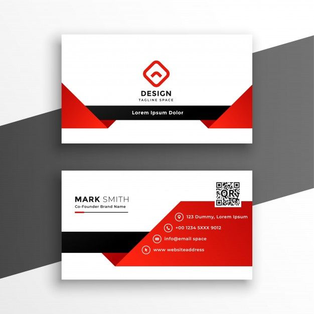 Download Red And White Modern Business Card Template For Free Modern Business Cards Free Business Card Templates Business Card Template Design