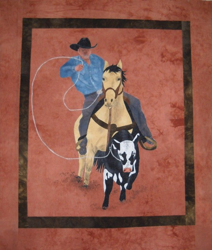 Ride em cowboy quilt.  Love this quilter's work.  My daddy!