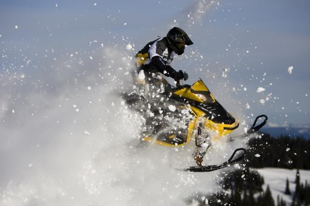 2013 Ski-Doo MXZ X-RS in action