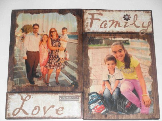 Custom made photo collage transfer to wood  by HearttoCraft, $99.00