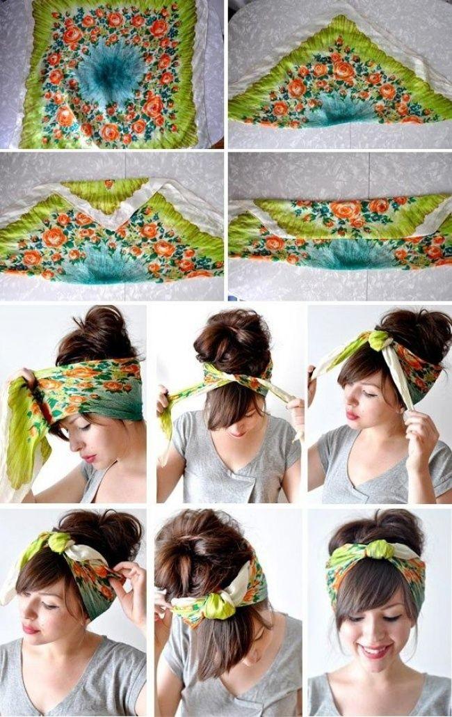 Maneiras originais de amarrar lenço na cabeça (21 fotos) (4)