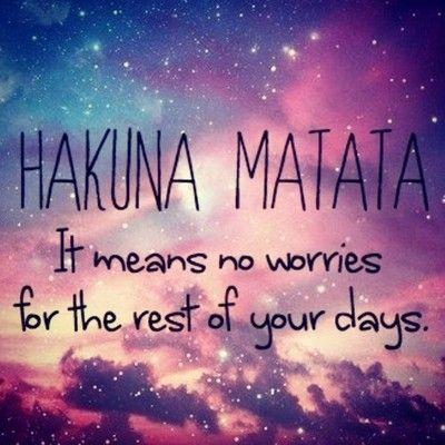 Hakuna Matata Quotes. QuotesGram