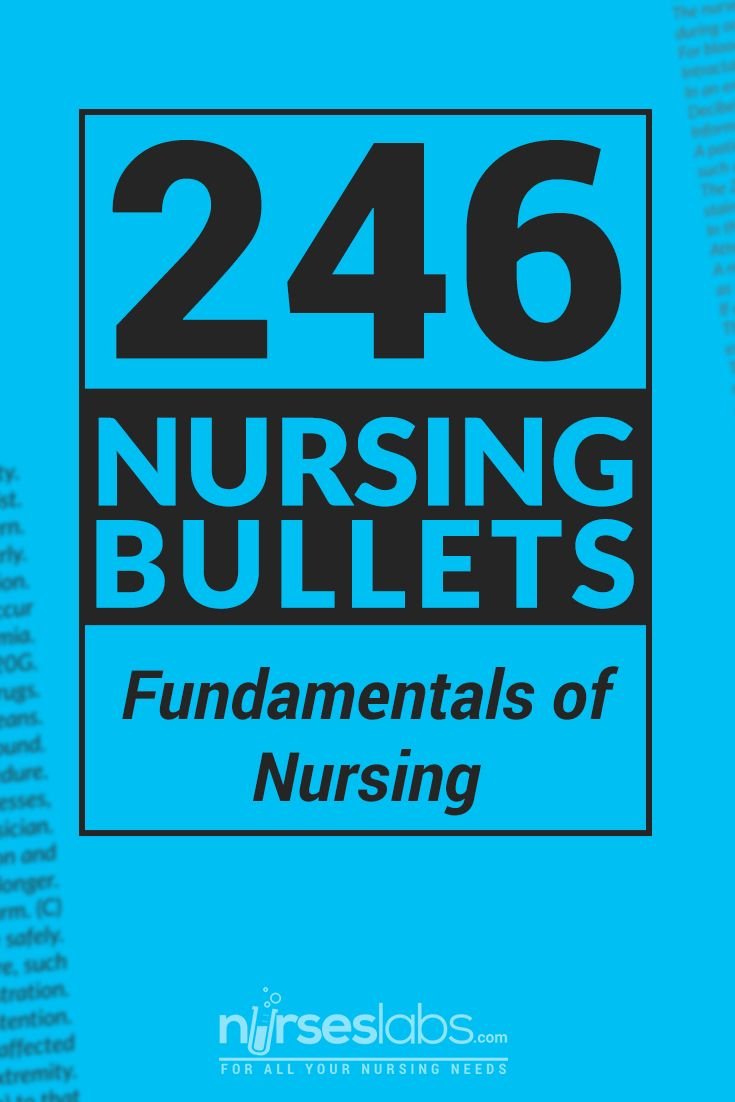 246 Nursing Bullets: Fundamentals of Nursing Reviewer