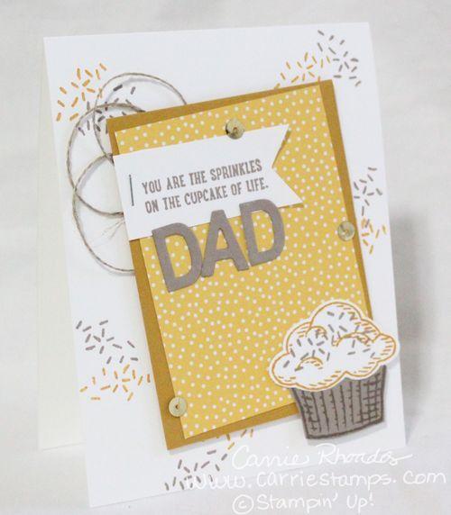 Sprinkles of Life card for Dad www.carriestamps.com #stampinup