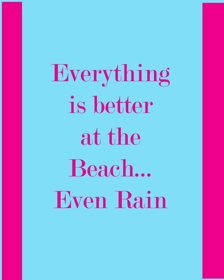 Everything is better at the beach...