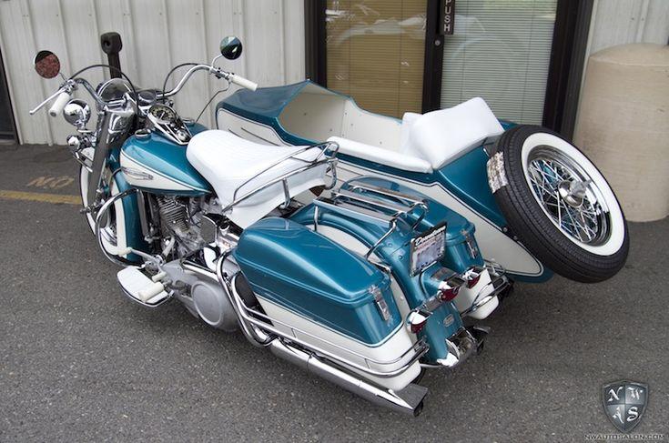 Harley Davidson Side Car Motorcycle Detail Leather ...