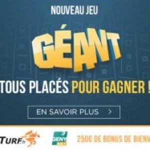 Le nouveau jeu exclusif à LeTurf et GENYbetCe samedi 26 septembre 2015, le groupe Paris-Turf vient de lancer en parallèle sur GENYbet.fr et LeTurf.fr un nouveau jeu baptisé le Géant. Le principe de ce