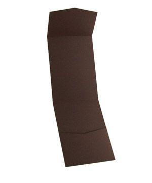 Vertico Pocket Invitation - Brown - $.69 ea.
