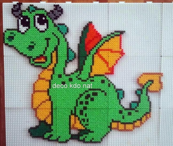 Dragon hama perler beads by Deco.Kdo.Nat