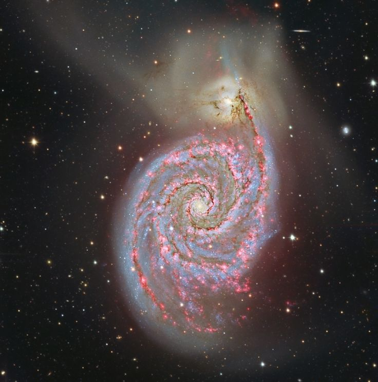 Hydrogen in M51..ever felt so small but oh so loved... look up in awe