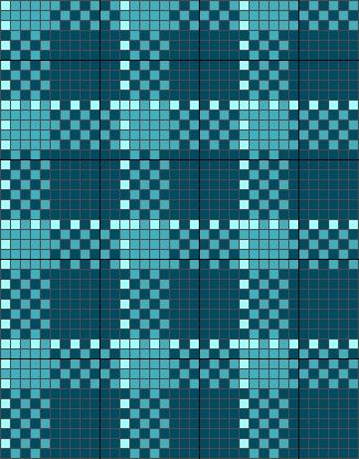 scottish tartan - cross stitch chart