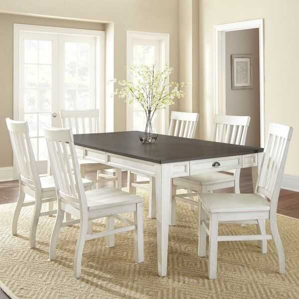 Duclos 7 Piece Drop Leaf Dining Table Set With Images Dining