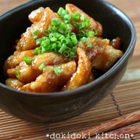 つまみに◎カリカリ食感の「鶏皮の甘酢焼き」がさっぱり旨い〜♪