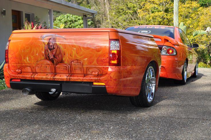 Commodore and ute back trailer
