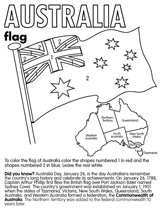 Free coloring pages for flags from around the world