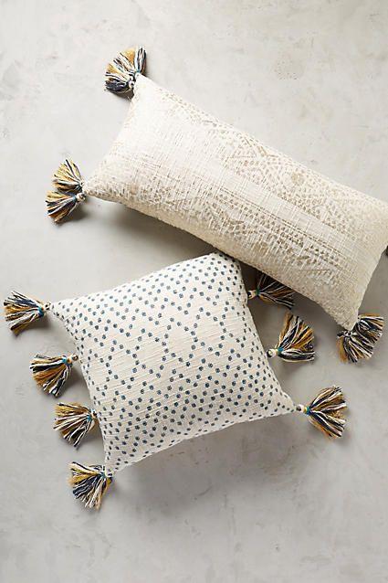 Tasseled Pointilliste Pillow - anthropologie.com