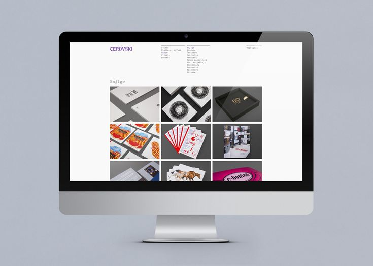 Website for print production studio Cerovski designed by Bunch