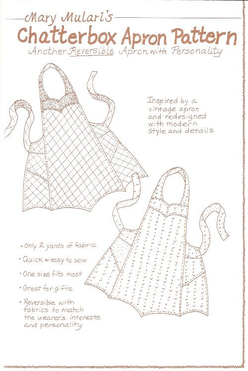 Vintage Apron Patterns Free | The Pattern Hutch -Apron Patterns, Retro Kitchen Wear, Vintage Apron ...