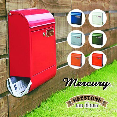 カラフルカラーがかわいいスチール製メールボックス。[MERCURY マーキュリー メールボックス]