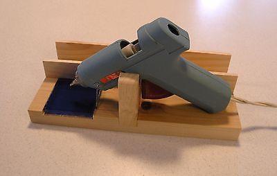 Suporte para pistola de cola quente e suporte, Com Telha De Vidro & Lado Direito espaço de armazenamento
