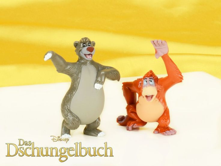 """Probier's mal mit Gemütlichkeit! Wir gratulieren der Walt Disney-Company zum 50. Kinojubiläuzm von """"Das Dschungelbuch"""". Welche Figur aus dem Film gefiel Euch am besten?  Feiert mit uns - die passenden Spiel- und Dekorfiguren findet Ihr in unserem Shop.  https://www.pati-versand.de/torten-und-kuchen/dekor/dekor-und-spielfiguren/disney-figuren-set-balou-und-king-louie"""