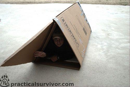 Urban Survival Shelters Diy Cold Weather Shelter Shtf