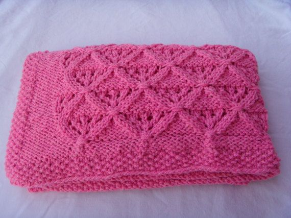 Baby blanket Knit beby blanket Baby shower Pink baby blanket