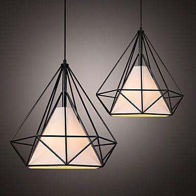 E27  Line 1M 38*38CM Loft Industrial Wind Restoring Ancient Ways Wrought Iron Lamps Lanterns Birdcage Chandelier  LED – AUD $ 45.75
