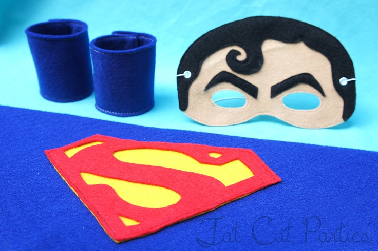 Superman Cape, Mask and Cuffs. $20.00, via Etsy.