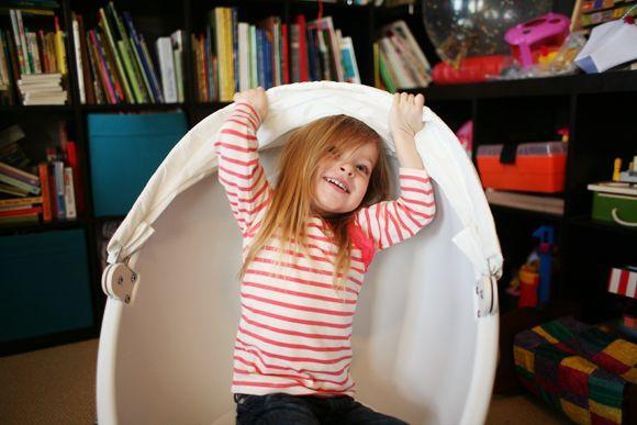 DIY spray paint Ikea kids chair