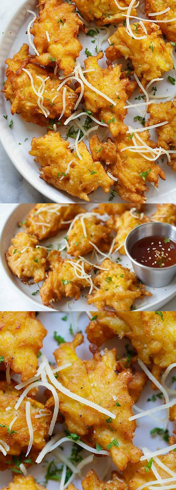 Crazy delicious pumpkin fritters recipe with Parmesan cheese. Easy, fail-proof and takes only 20 min | rasamalaysia.com