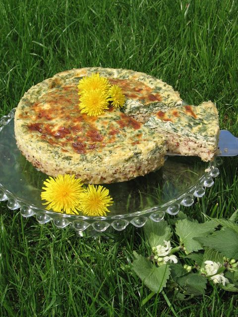 Nettle Quinoa Tart - Tarte ortie quinoa
