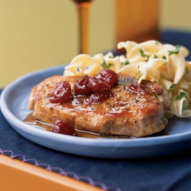 Pork Chops With Ginger-Cherry Sauce | Recipes that make your mouth wa ...