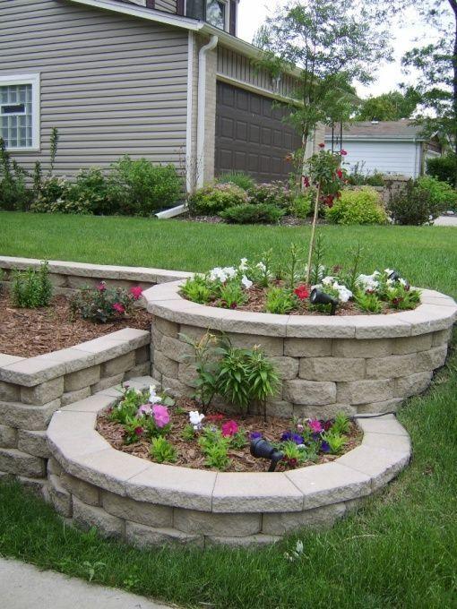 tier landscaping ideas | tier landscape with landscape blocks - DIY, About 400 patio blocks ... by agnes.dembowski