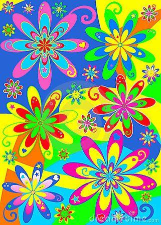 Hippie Flowers   Groovy Hippie Flower Power Stock Photos - Image: 13668663