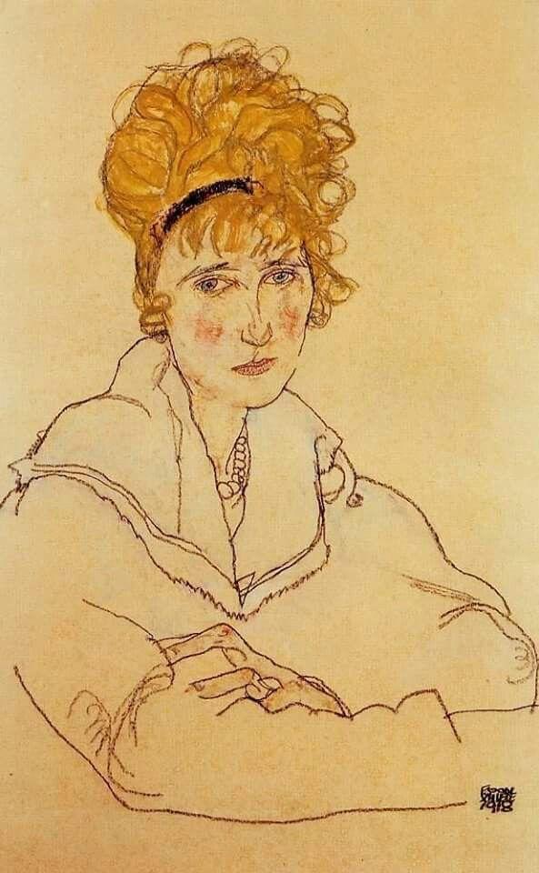 Schiele - Ritratto di Edith Schiele